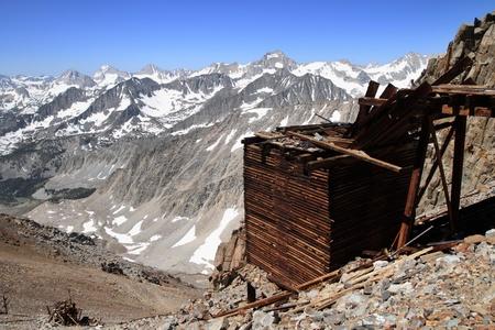 high sierra: Mountain mine ruins of the Morgan mine in the Sierra Nevada Mountains