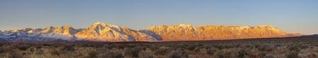 Eastern Sierra sunrise panorama from the volcanic tableland near Bishop California Stock Photo - 12380001