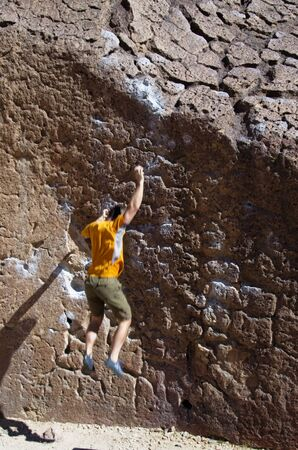 falling rock climber man with motion blur Stock Photo - 12380012
