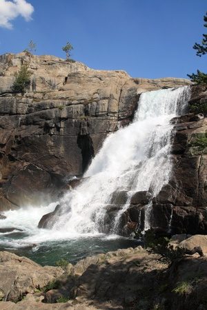 vertical image of the Tuolumne Falls waterfall on the Tuolumne River in Yosemite National Park Stock Photo - 12712109