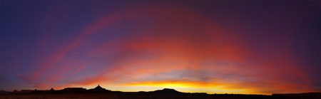 southwestern: Southwestern desert sunset in the Canyonlands region of Utah with the North and South Six-Shooter towers