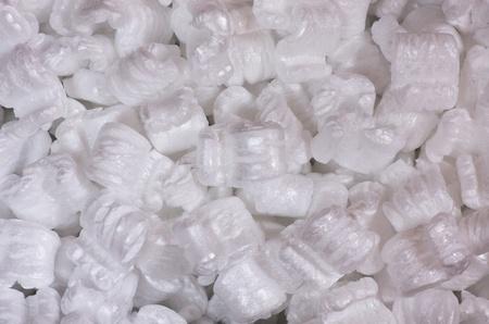 styrofoam: white styrofoam S packing peanuts background texture
