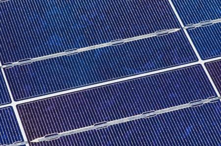 blue crystalline silicon photovoltaic solar panel background detail Stock Photo - 13336135