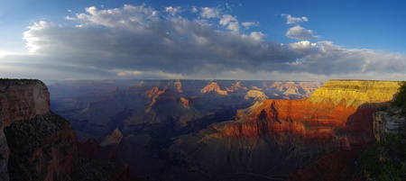 grand canyon national park: panorama of the Grand Canyon from the South Rim