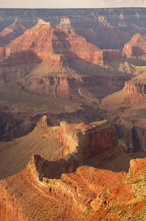 Detail of the Grand Canyon interior from the South Rim Banco de Imagens