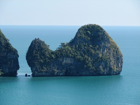 whale shaped island off Tonsai peninsula in Krabi Thailand Stock Photo - 13551515