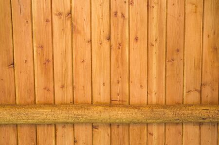 rustic wood background of finished boards and round log Stock Photo - 13796144