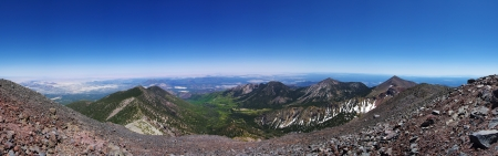 mount humphreys: panorama from the top of Mount Humphreys the highest mountain in Arizona