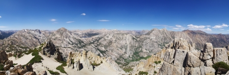 sierras: panorama from the summit of Kettle Peak in the Sierra Nevada Mountains of California