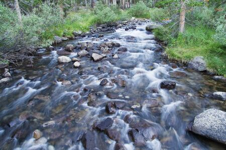 Long exposure of Rock Creek with silky flowing water Stock Photo - 15039530