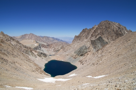 Lake Helen of Troy and Mount Williamson with blue sky Stock Photo - 15420543
