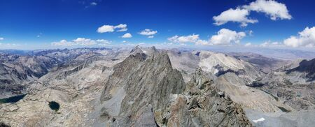 sierras: palisade crest mountain panorama from the summit of Middle Palisade Peak