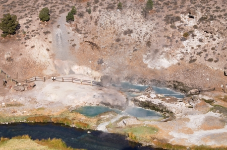 Hot Creek geothermal site with hot springs and stream Stock Photo - 16103582