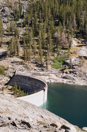 vertical image of Lake Waugh dam in California Stock Photo - 19586747