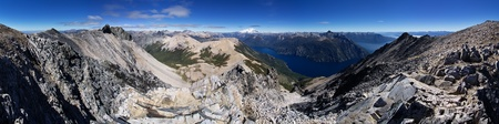lake nahuel huapi: Patagonia landscape panorama from the summit of Pico Turista near Bariloche