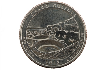 pluribus: Chaco Culture New Mexico commemorative quarter coin Stock Photo