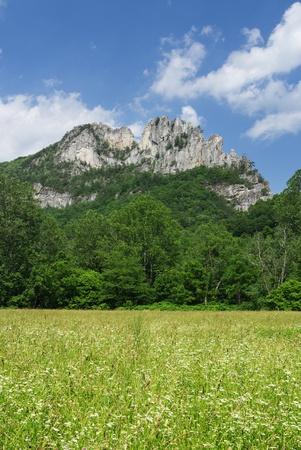quartzite: Seneca Rocks rock formation in West Virginia