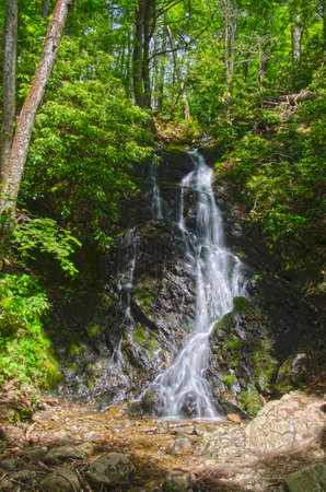 high dynamic range image of Cataract falls waterfall in Great Smoky Mountains National Park photo