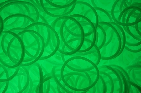 green glow in the dark rubber bands  Stock Photo - 21802947