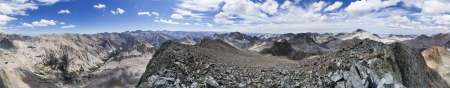 black giant mountain: 360 degree panorama from the summit of Black Giant Mountain overlooking LeConte Canyon