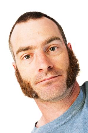 hair short: Uomo con montone braciole basette e capelli corti Archivio Fotografico