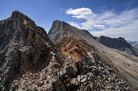 north ridge of Black Giant Mountain in the Sierra Nevada Mountains Stock Photo - 24316979