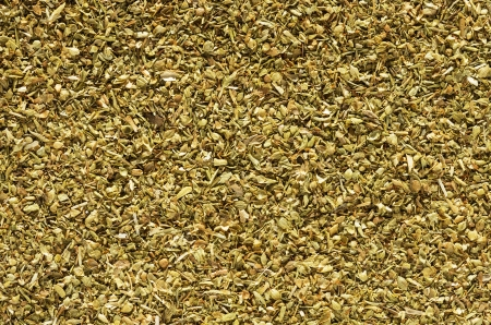 macro background image of dried oregano flakes herb Stock Photo - 24316980