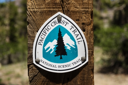 Pacific Crest Trail Sign near Sonora Pass Stock Photo - 24317092