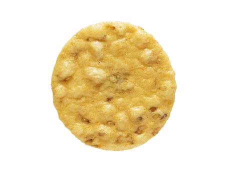 sesame cracker: close up image of sesame cracker isolated on white background Stock Photo