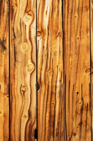 weathered old wood boards in a wall with rust streaks from the nails Stock Photo - 24317165