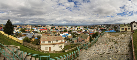 punta arenas: panorama of Punta Arenas in Patagonia Chile on the Straight of Magellan