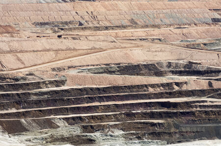 massive open pit mine for borate minerals 版權商用圖片