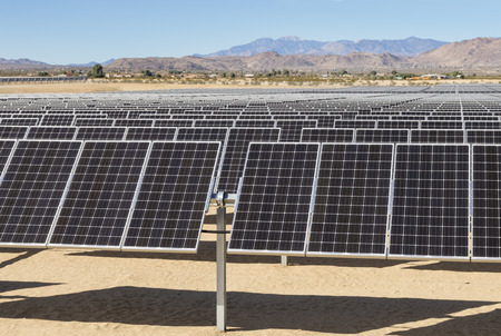 solar photovoltaic electric power plant in the Mojave desert of California