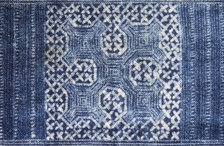 indigo: blue indigo dyed batik cloth made by Red Dao in Sapa Vietnam Stock Photo