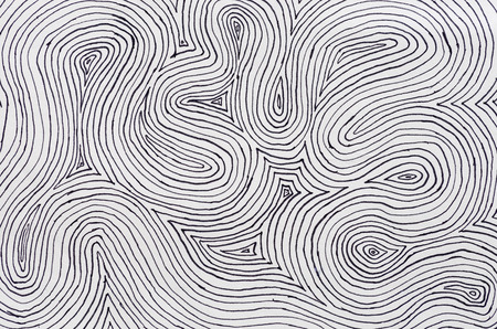background texture of black ink on white paper with many concentric curved lines