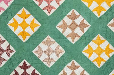 antieke handgemaakte quilt uit het oosten van de VS in de late jaren 1800