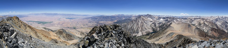 Sierra Nevada mountain panorama from the summit of Mount Tom near Bishop California