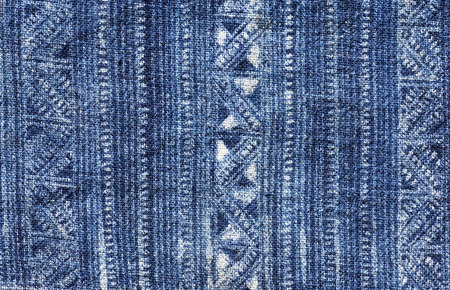 blue indigo dyed batik cloth from Vietnam