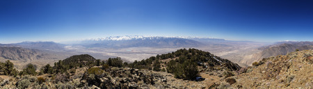 Owens Valley panorama taken from the summit of Black Mountain between Bishop and Big Pine