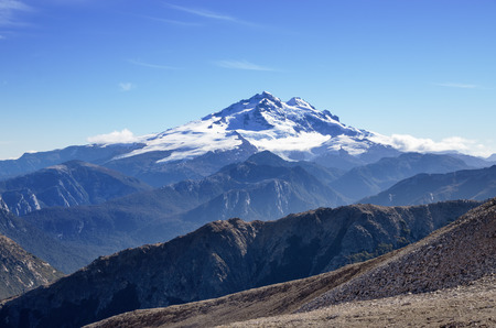 mount tronador: Mount Tronador a volcano in the Andes as viewed from near Bariloche Argentina