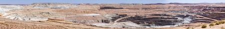 open pit borate mineral mine panoramic image