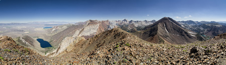 summit panorama from the summit of Laurel Mountain in the eastern Sierra Nevada Mountains