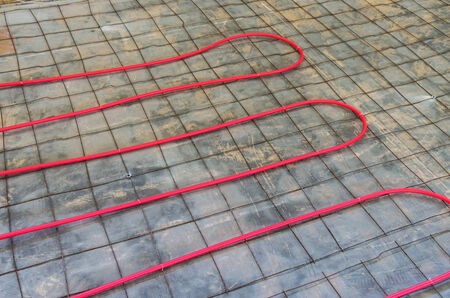 hydronic heat pex piping installation onto existing floor