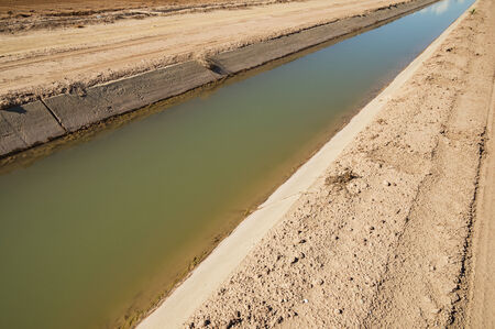 Imperial Valley irrigation canal with concrete lining