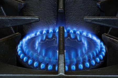 heavy duty natural gas stove burner with blue flames