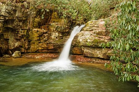 stoney: Blue Hole Falls waterfall along Stoney Creek in Tennessee