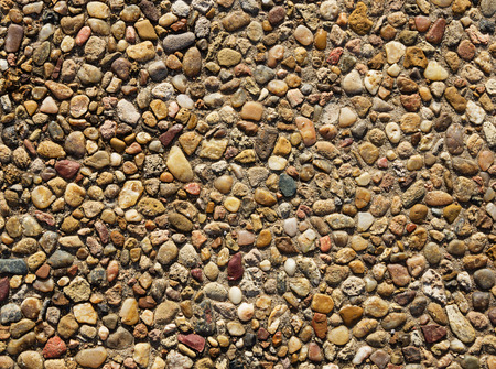 aggregate: exposed aggregate concrete with rounded pebbles background texture Stock Photo