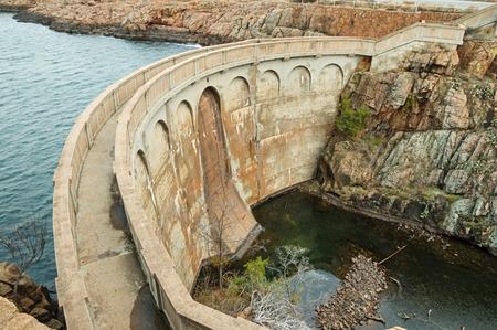 Quanah Parker Dam in the Wichita Wildlife Refuge in Oklahoma