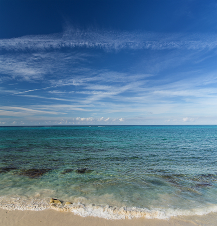 beach in the Bahamas near Nassau on New Providence Island