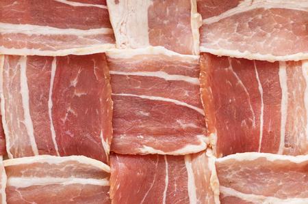 raw bacon woven lattice background texture